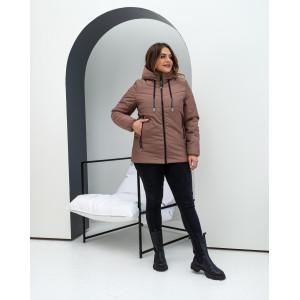 Женская куртка 000103-3 размеры 46-56 цвет темно-бежевый