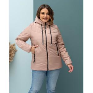 Женская куртка 000103-2 размеры 46-56 цвет светло-бежевый