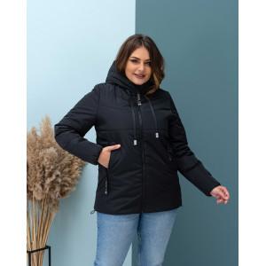 Женская куртка 000103-1 размеры 46-56 цвет черный