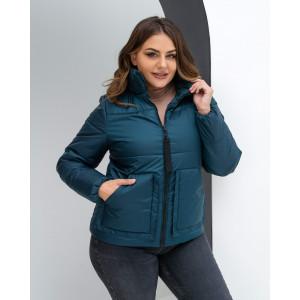 Женская куртка 000135-2 размеры 44-54 цвет зеленый