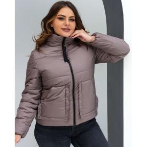 Женская куртка 000135-3 размеры 44-54 цвет бежевый