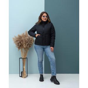 Женская куртка 000135-1 размеры 44-54 цвет черный