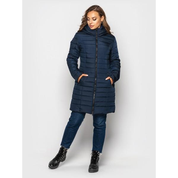 Женская куртка  зимняя 00019-4 размеры 44-48 цвет темно синий