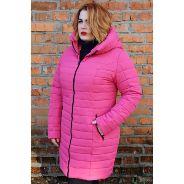 Женская куртка  зимняя 00019-6 размеры 44-60 цвет малина