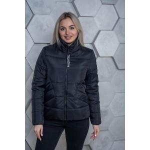 Женская куртка 00031-3 размеры 42-54 цвет черный