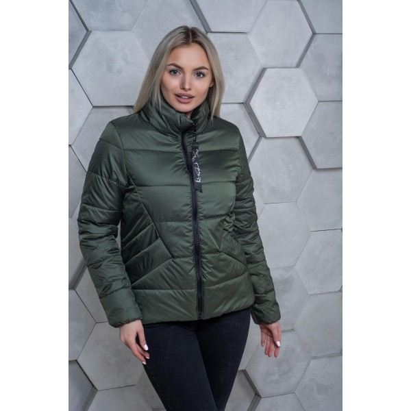 Женская куртка 00031-2 размеры 42-54 цвет хаки