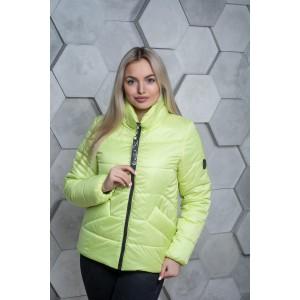Женская куртка 00031-4 размеры 42-54 цвет желтый