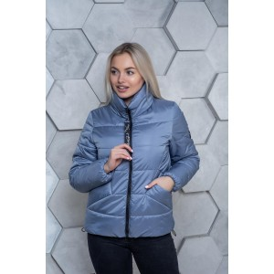 Женская куртка 00031-1 размеры 42-54 цвет голубой