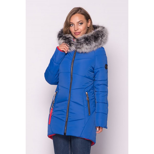Женская куртка зимняя 000318-2 размеры 44-54 цвет электрик