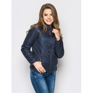 Женская куртка 00033-2 размеры 42-52 цвет синий