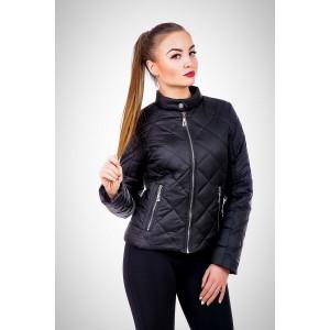 Женская куртка 00033-1 размеры 42-52 цвет черный