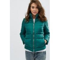 Женская куртка 00035-4 размеры 42-52 цвет зеленый