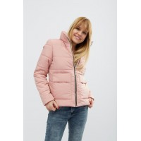 Женская куртка 00035-3 размеры 44-52 цвет розовый