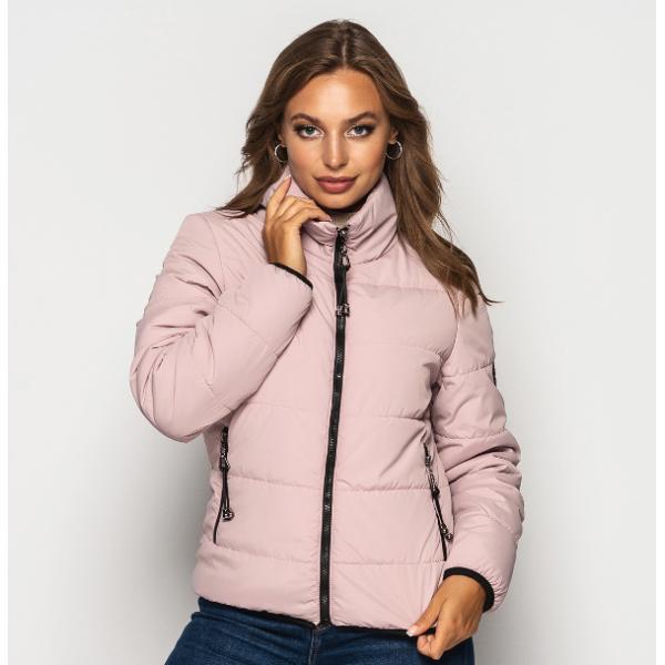 Женская куртка 00036-1 размеры 42-52 цвет розовый