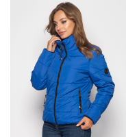 Женская куртка 00036-3 размеры 42-52 цвет электрик