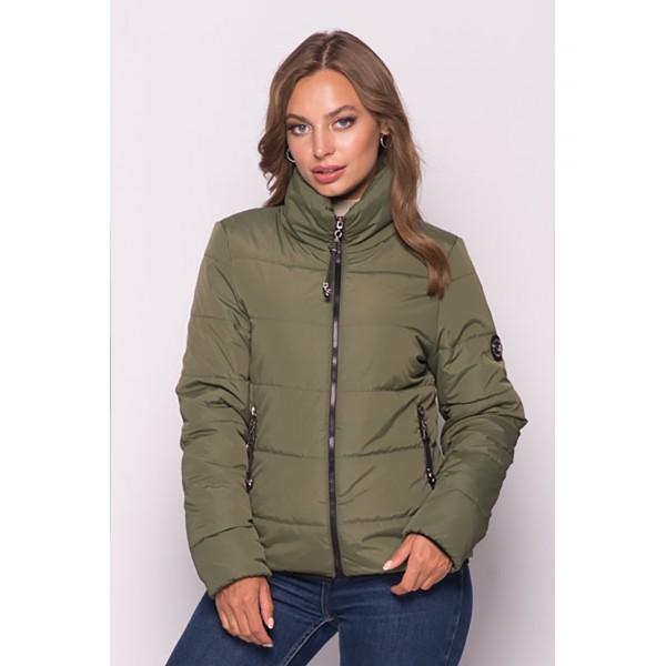 Женская куртка 00036-4 размеры 42-52 цвет хаки