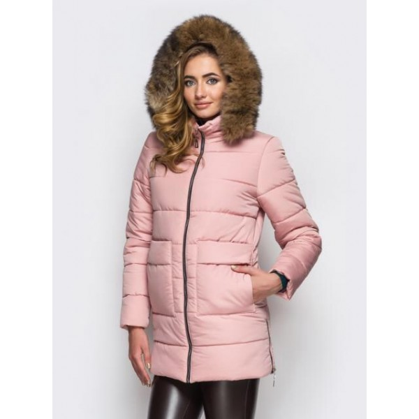 Женская  куртка зимняя 00039-3 размеры 42-52 цвет розовый