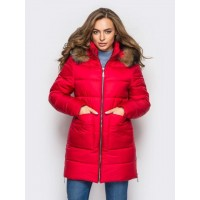 Женская  куртка зимняя 00039-2 размеры 42-52 цвет красный