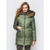 Женская  куртка зимняя 00039-1 размеры 42-52 цвет хаки