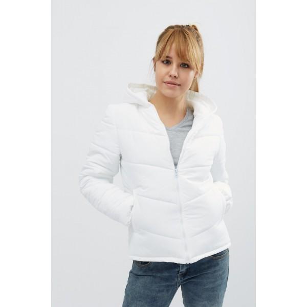 Женская куртка 00041-4 размеры 44-50 цвет белый