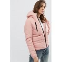 Женская куртка 00043-1 размеры 42-52 цвет розовый