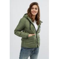 Женская куртка 00043-2 размеры 42-52 цвет хаки