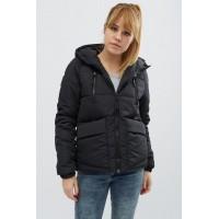 Женская куртка 00043-3 размеры 42-52 цвет черный