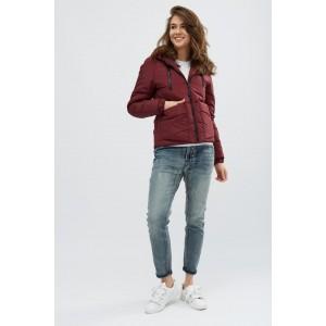 Женская куртка 00043-4 размеры 42-52 цвет бордовый