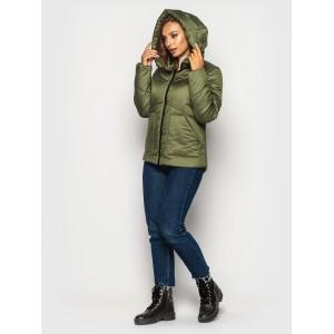 Женская куртка 00047-5 размеры 42-52 цвет хаки