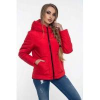 Женская куртка 00047-1 размеры 42-52 цвет красный