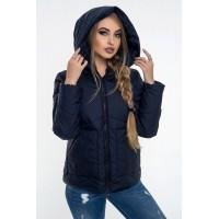 Женская куртка 00047-4 размеры 42-52 цвет синий