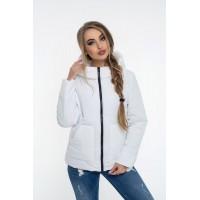 Женская куртка 00047-2 размеры 42-52 цвет белый