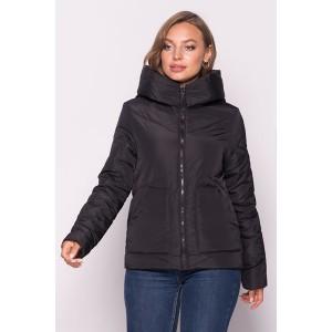 Женская куртка 00047-3 размеры 42-52 цвет черный