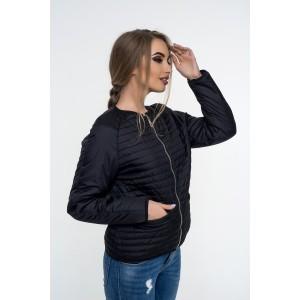 Женская куртка 00055-5 размеры 42-52 цвет черный.