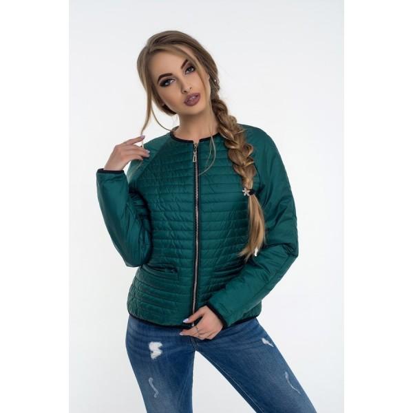 Женская куртка 00055-3 размеры 42-48 цвет зеленый.