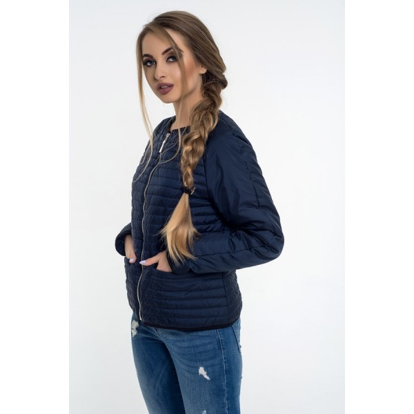 Женская куртка 00055-4 размеры 42-50 цвет темно синий.