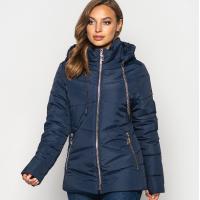 Женская куртка 000563-1 размеры 44, 50-64 цвет темно синий