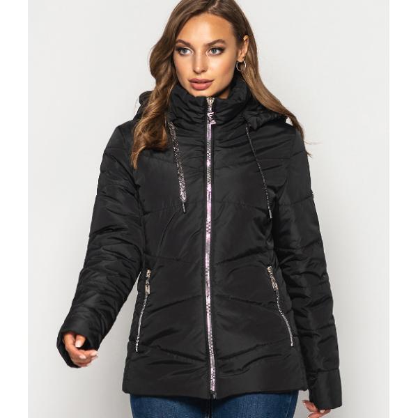 Женская куртка 000563-3 размеры 50-64 цвет черный