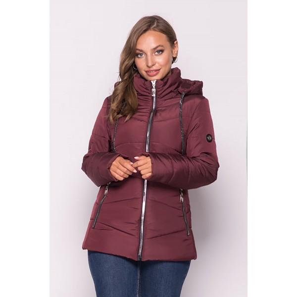 Женская куртка 000563-2 размеры  50-64 цвет бордовый