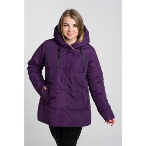 Женская куртка 00057-2 размеры 50-64 цвет сиреневый