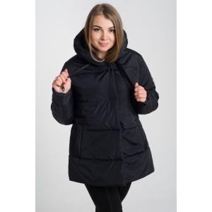 Женская куртка 00057-1 размеры 50-64 цвет черный