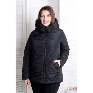 Женская куртка 00059-1 размеры 50-64 цвет черный
