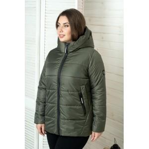 Женская куртка 00059-2 размеры 50-64 цвет хаки