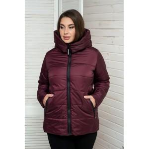 Женская куртка 00059-3 размеры 50-64 цвет бордовый