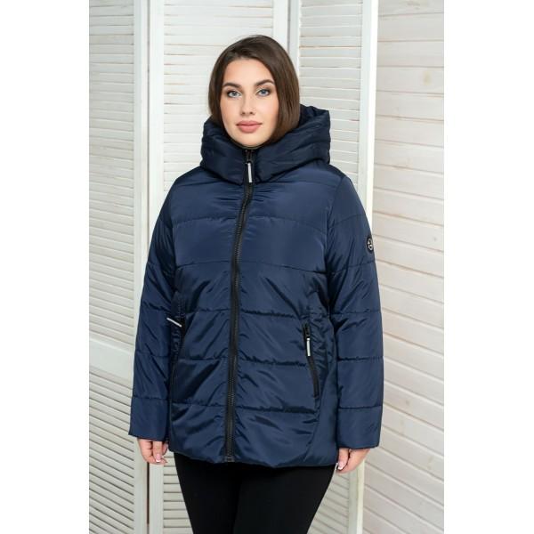 Женская куртка 00059-4 размеры 50-64 цвет темно-синий