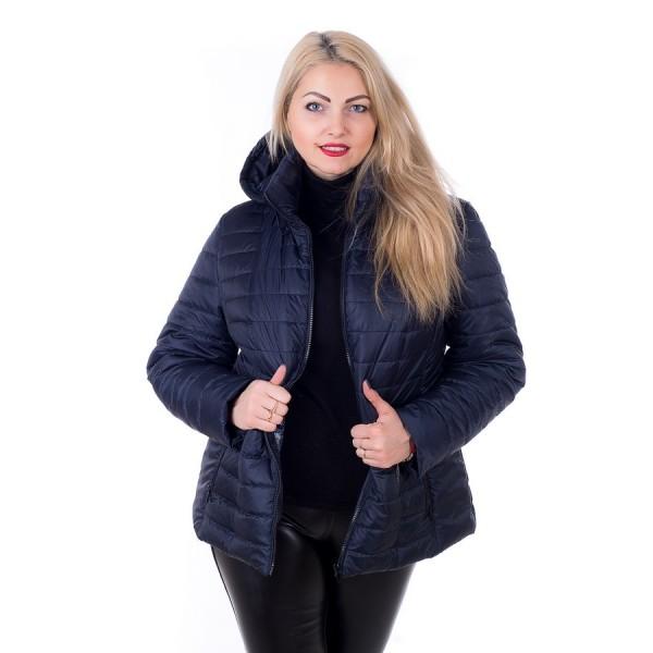Женская куртка 00061-1 размеры 56-60 цвет темно синий