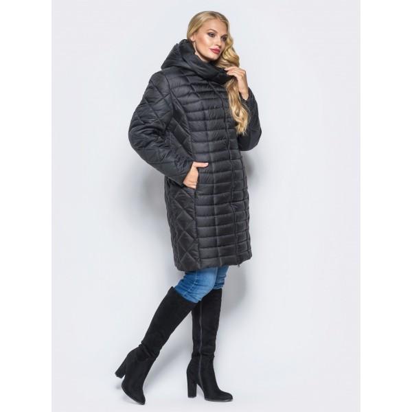 Женская куртка зимняя  00073-2 размеры 54-64 цвет черный