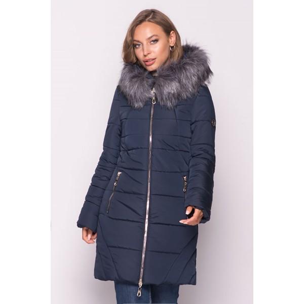 Женская  куртка зимняя 00077-2 размеры 50-60 цвет темно синий