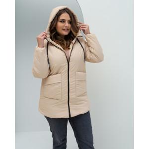 Женская куртка 00081-1 размеры 44-54 цвет бежевый