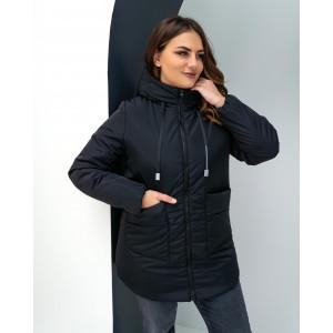 Женская куртка 00081-3 размеры 44-54 цвет черный